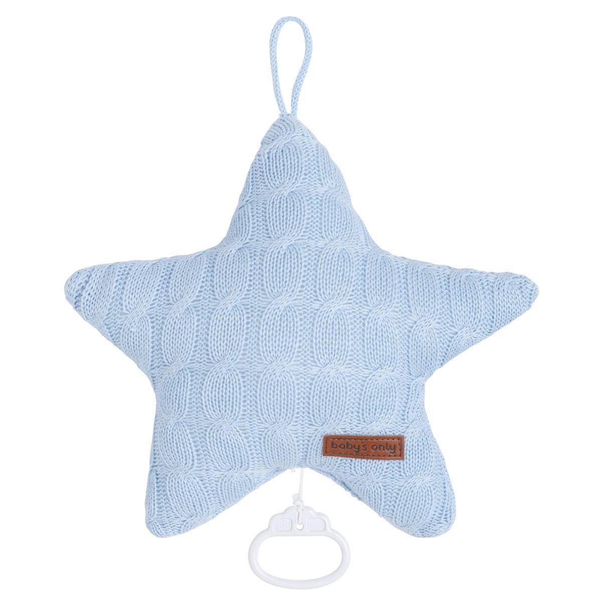 babys only 0132920 muziekdoos ster cable baby blauw 1