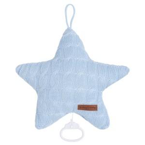 Muziekdoos ster Cable baby blauw