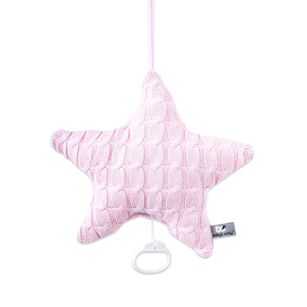 babys only 0132921 muziekdoos ster cable baby roze 1