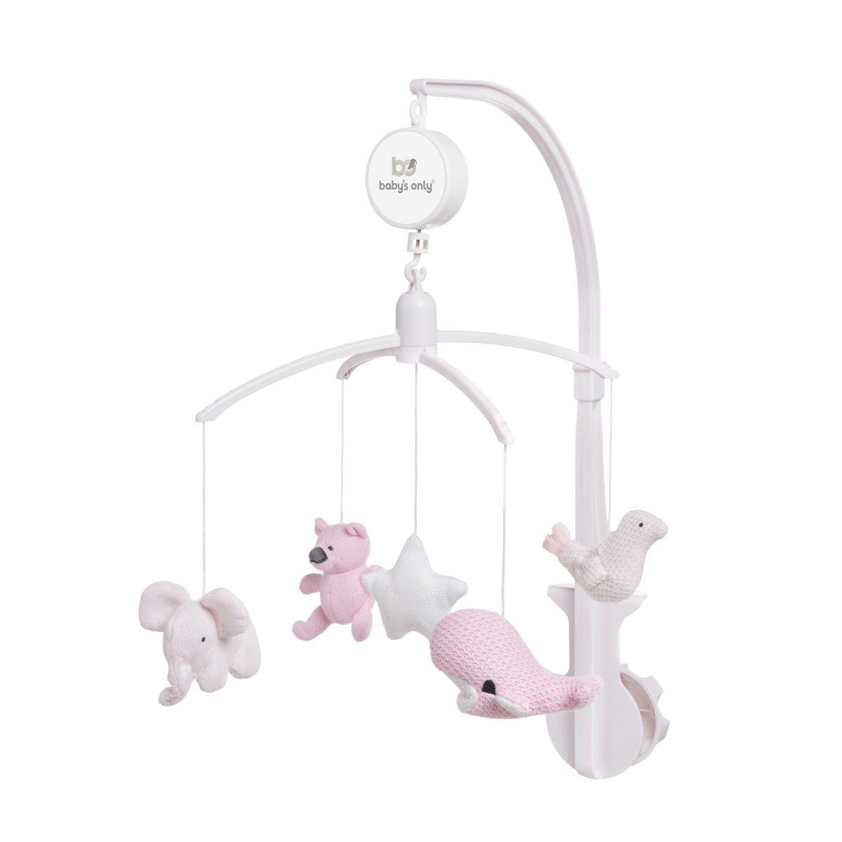 babys only 0852351 muziekmobiel classic roze baby roze wit 1