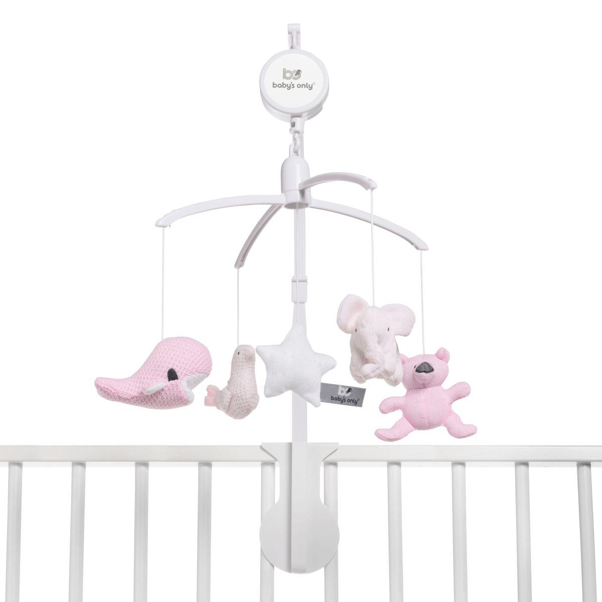 babys only 0852351 muziekmobiel classic roze baby roze wit 2