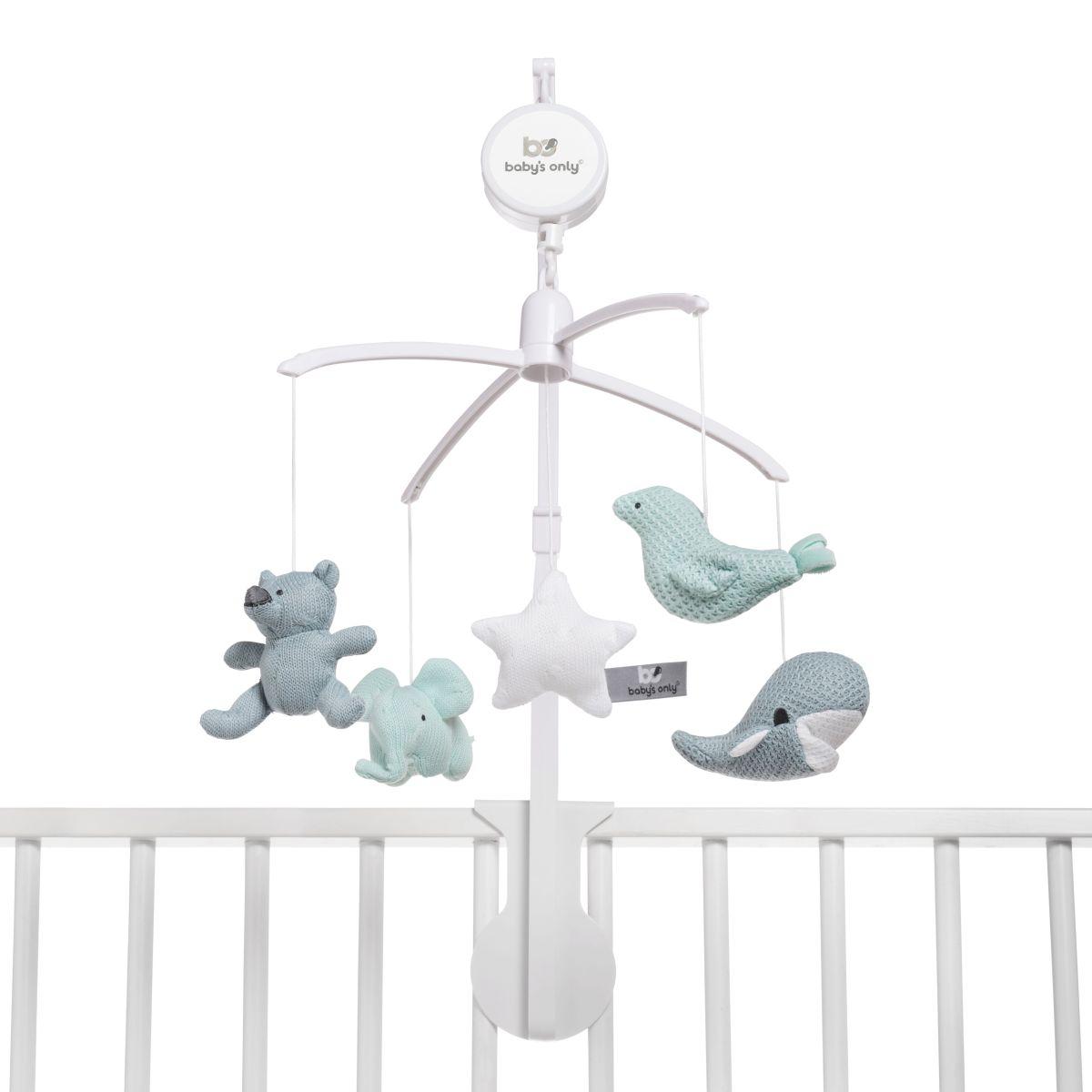 babys only 0852353 muziekmobiel stonegreen mint wit 2