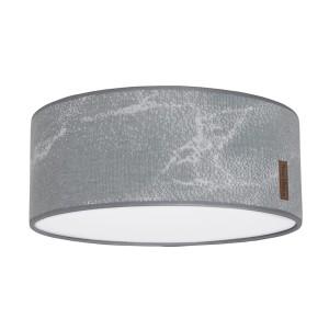 Plafonnière Marble grijs/zilvergrijs - Ø35 cm