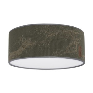 Plafonnière Marble khaki/olive - Ø35 cm