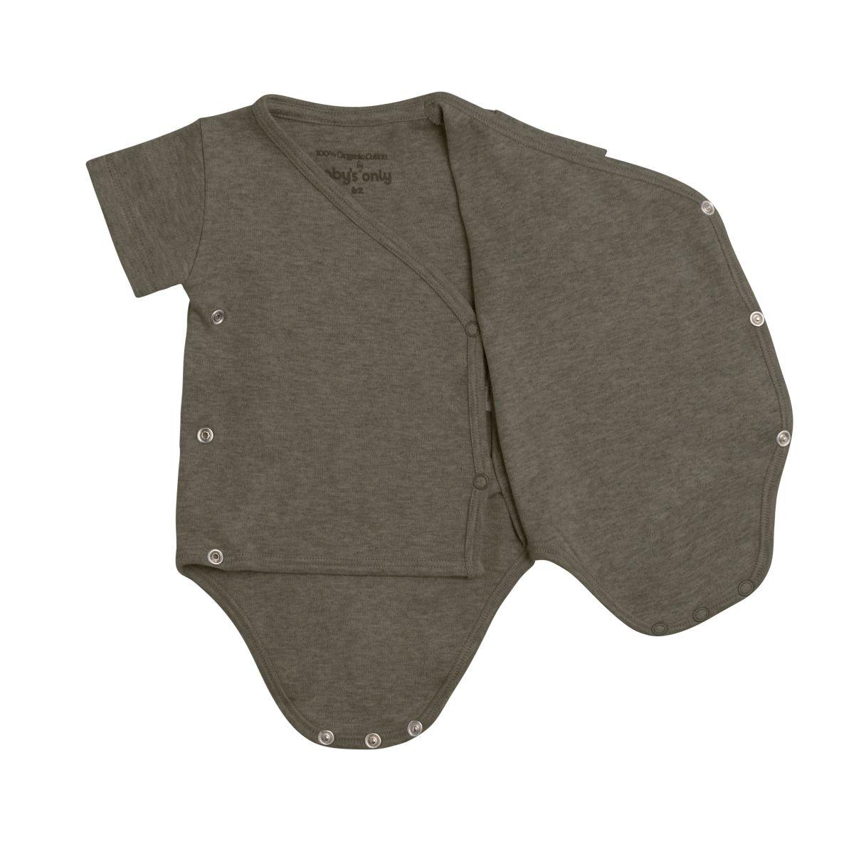 babys only 3455625 rompertje melange 56 khaki 2