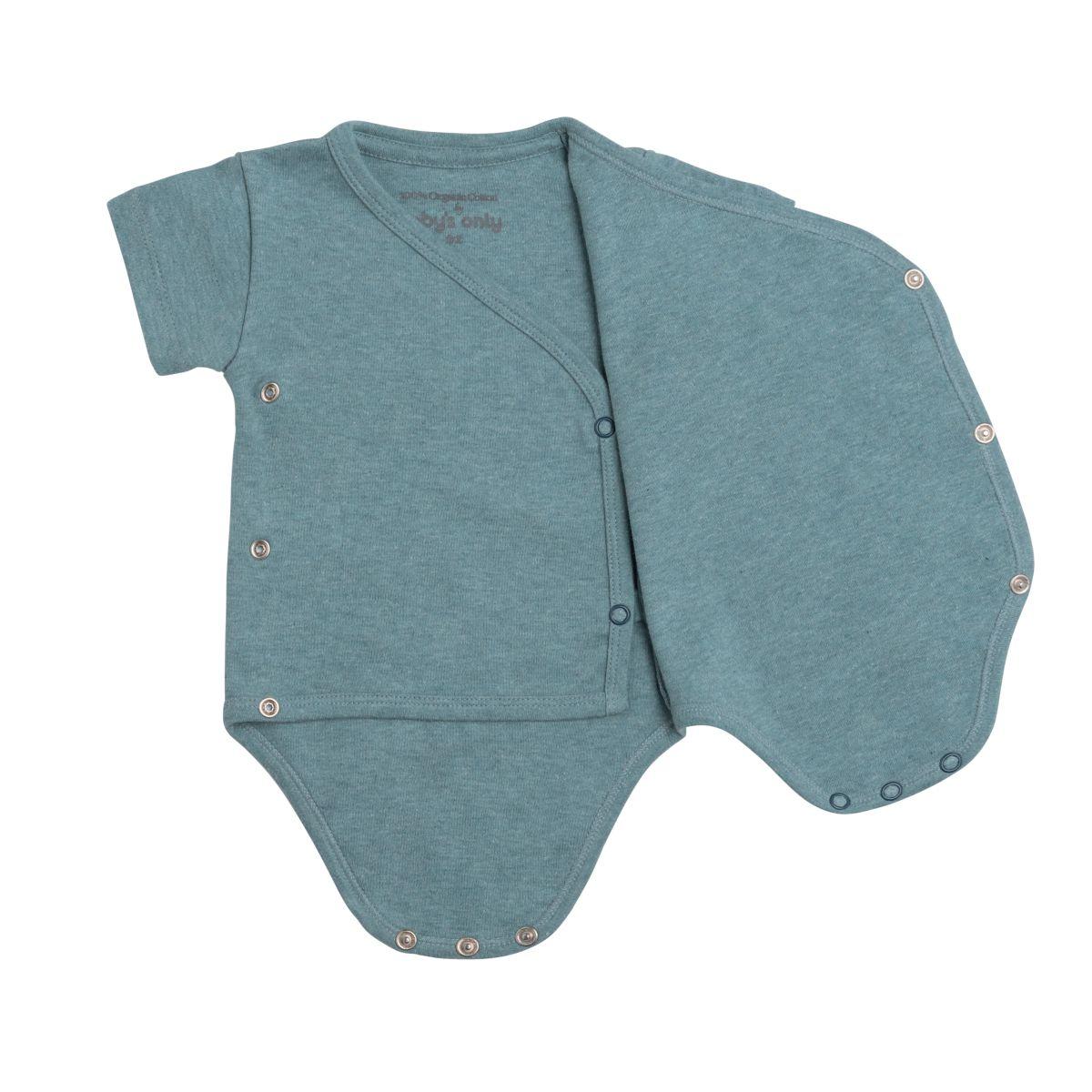 babys only 3456210 rompertje melange 62 stonegreen 2