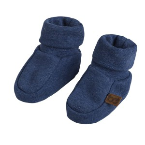 Slofjes Melange jeans - 0-3 mnd