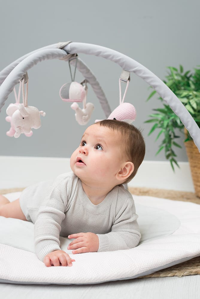 babys only 0850251 baby play gym classic roze baby roze wit 2