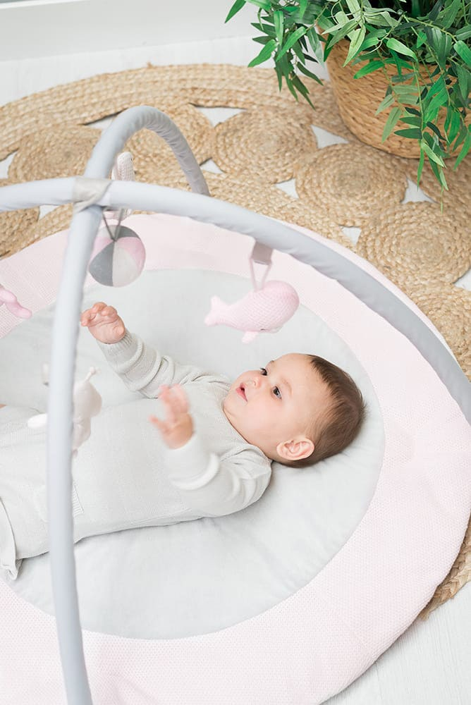 babys only 0850251 baby play gym classic roze baby roze wit 3