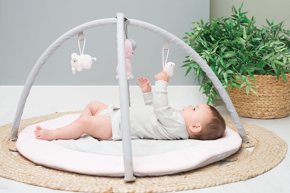 babys only 0850251 baby play gym classic roze baby roze wit 6