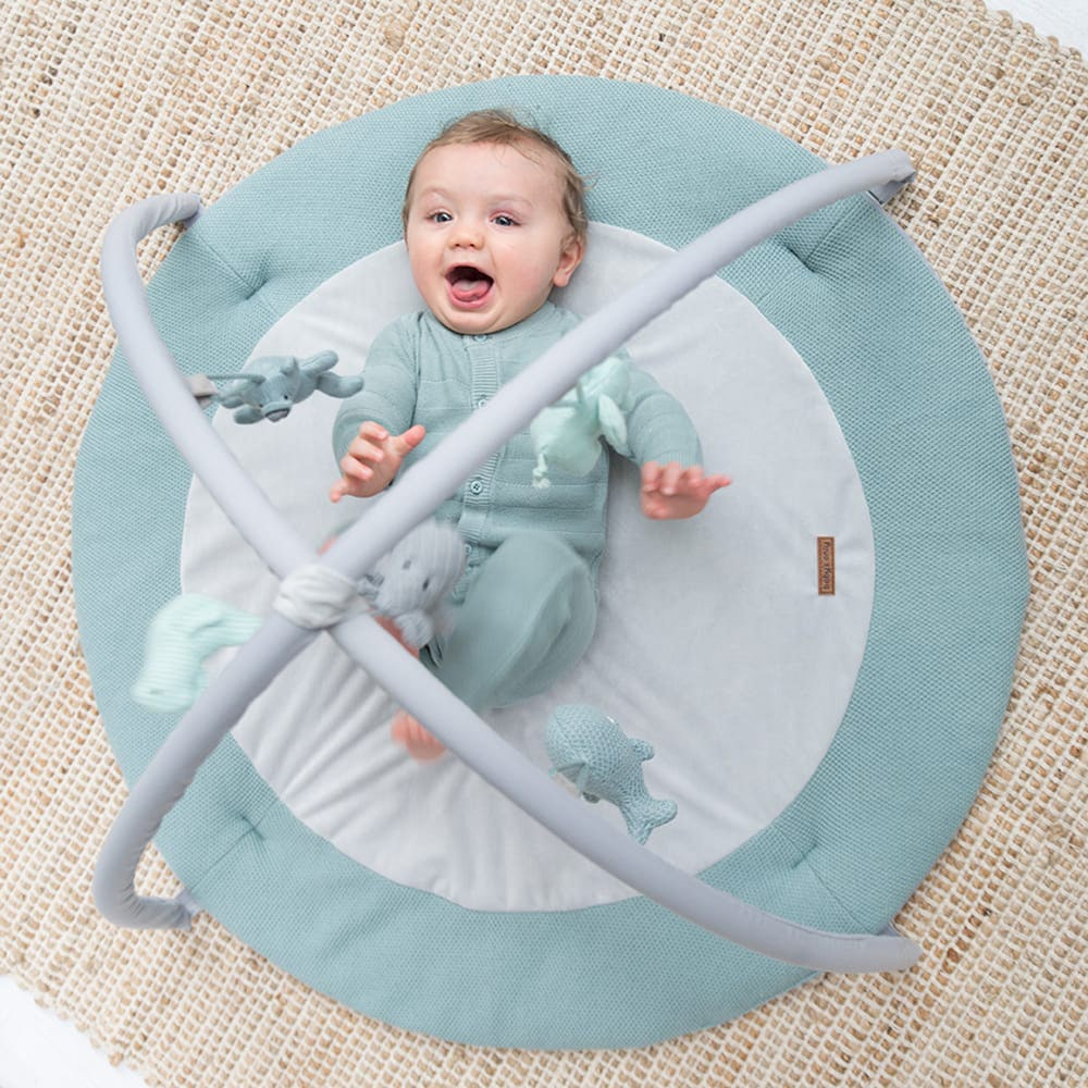 babys only 0850253 baby play gym stonegreen mint wit 2