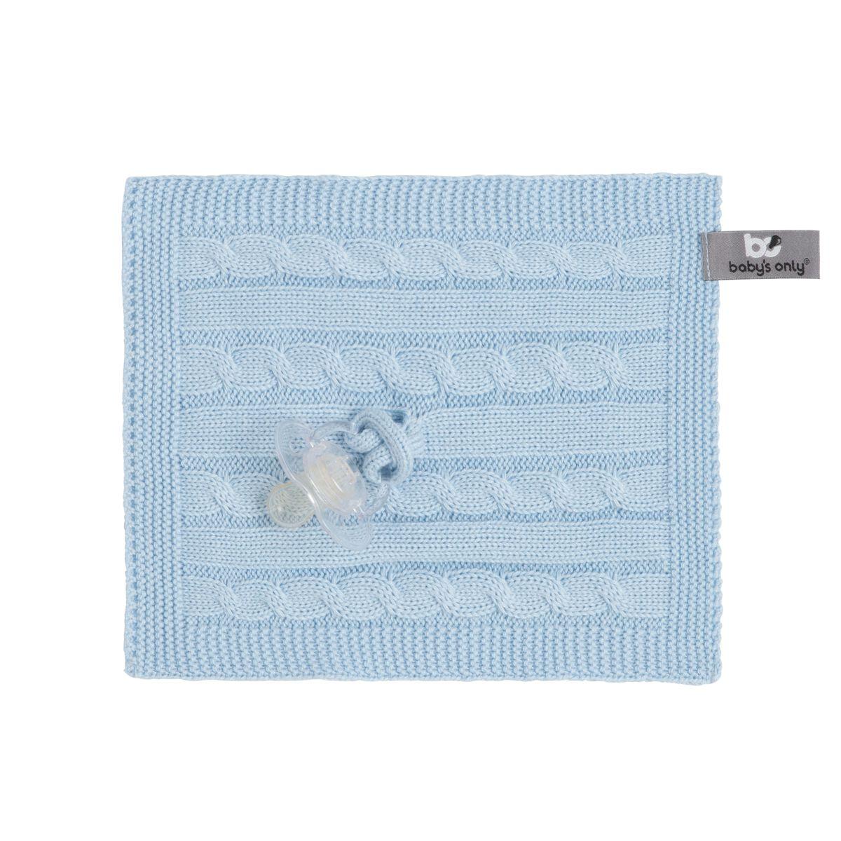 babys only 0132820 speendoekje cable baby blauw