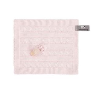 Speendoekje Cable classic roze
