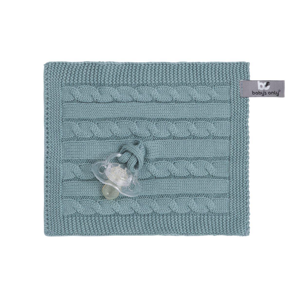 babys only 0132810 speendoekje cable stonegreen 1