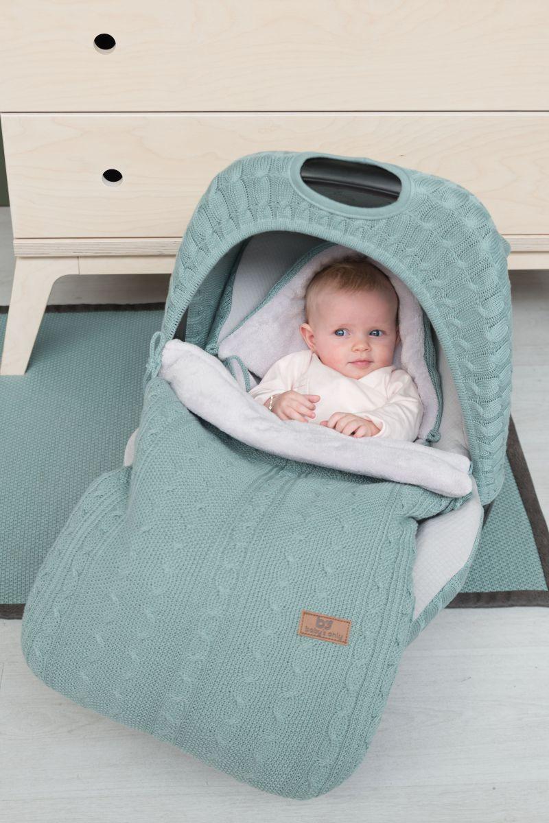 voetenzak autostoel 0 cable baby blauw