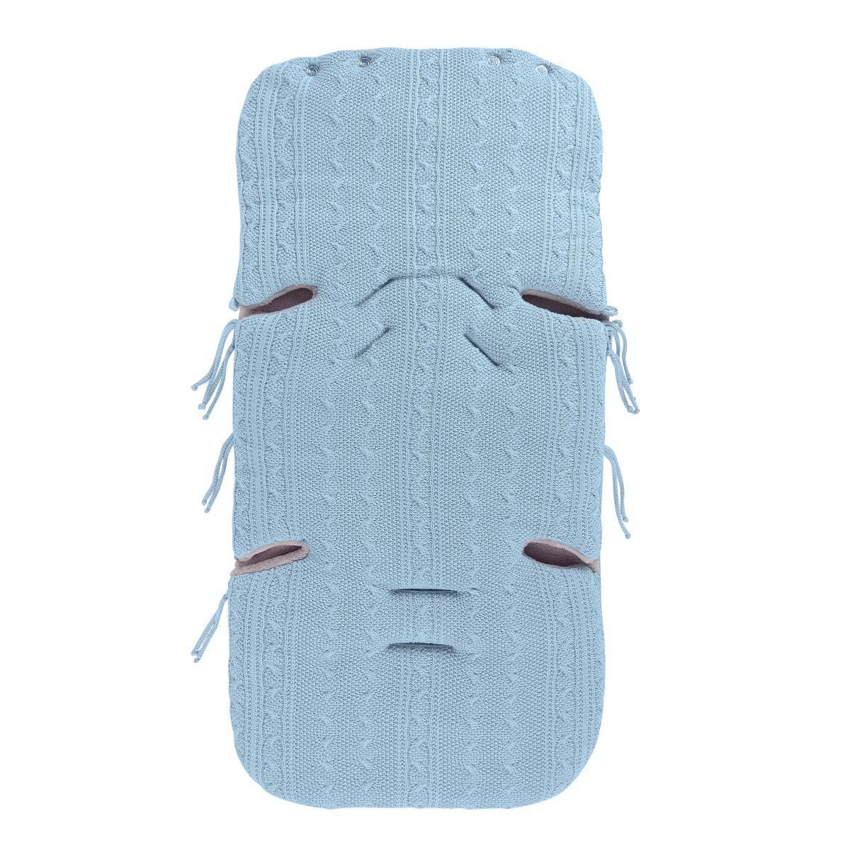 babys only 0463320 voetenzak cable baby blauw 2jpg