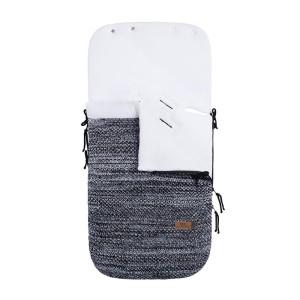 Voetenzak autostoel 0+ River zwart/wit mêlee