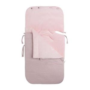 Voetenzak autostoel 0+ Sparkle zilver-roze mêlee