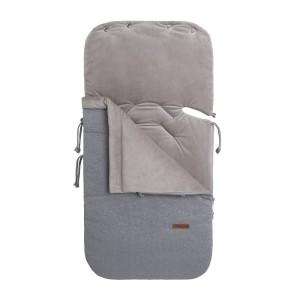 Voetenzak autostoel 0+ Sparkle zilvergrijs mêlee