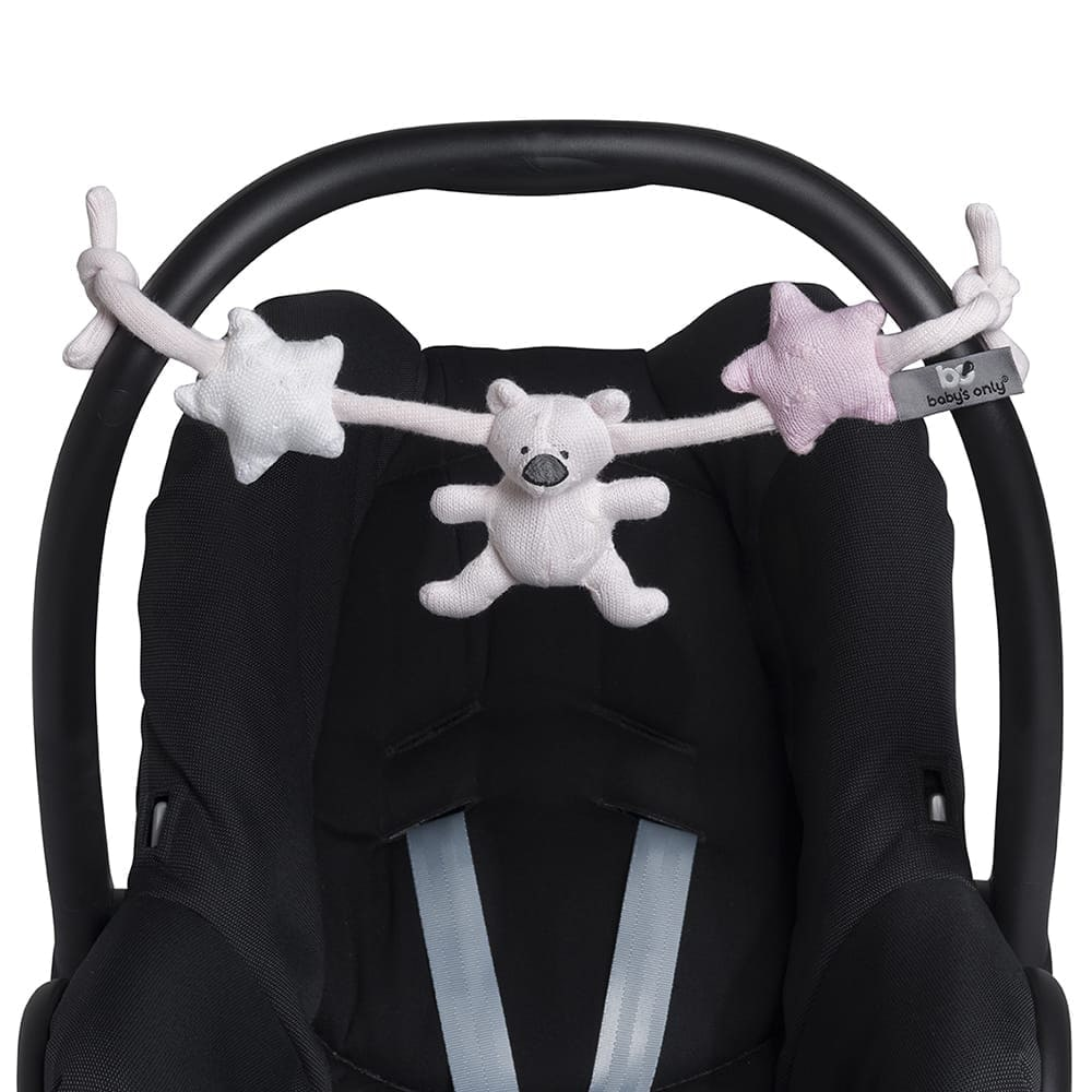babys only 0857651 wagenspanner classic roze baby roze wit 2