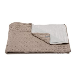 Wiegdeken chenille Cable taupe