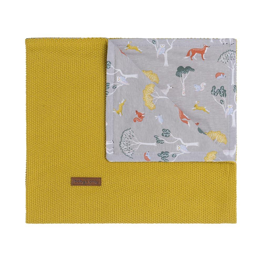 babys only 0262508 wiegdeken forest mustard 1