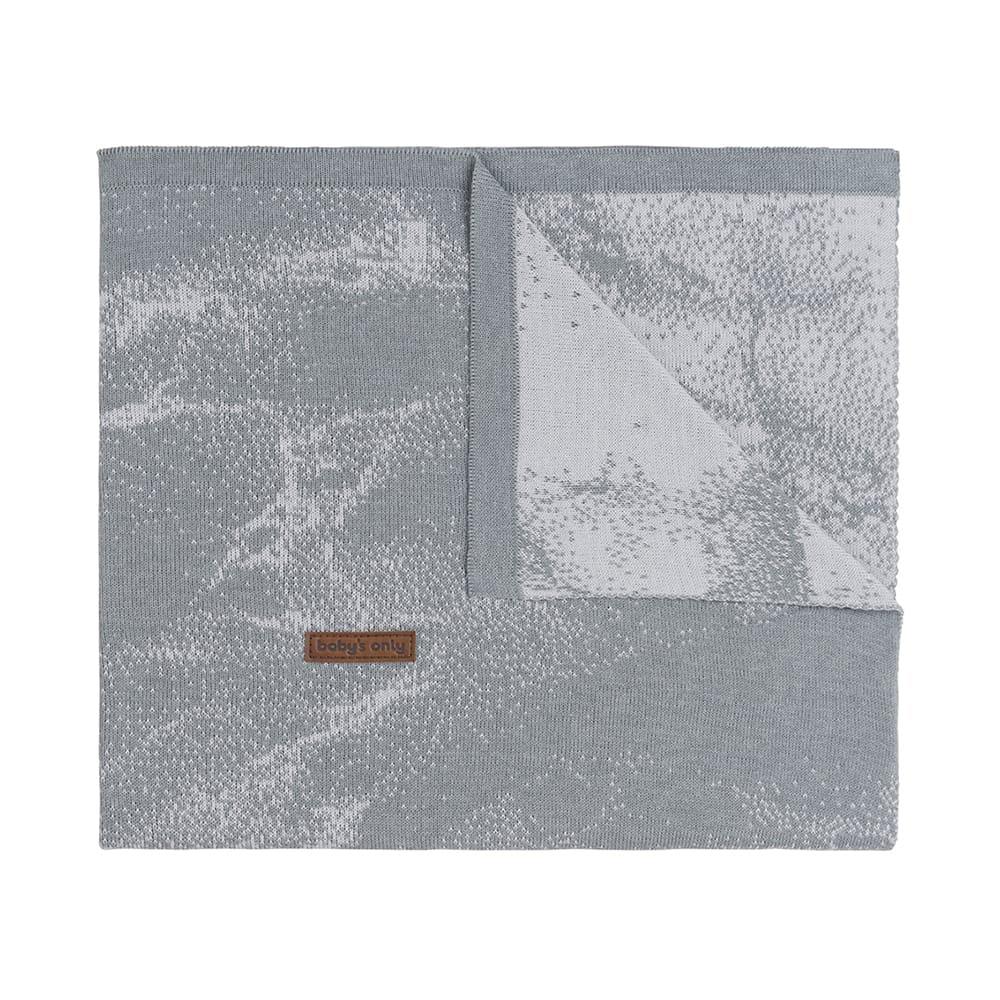 babys only 0212582 wiegdeken marble grijs zilvergrijs 1