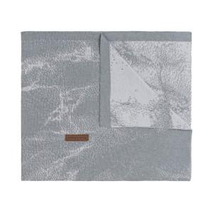 Wiegdeken Marble grijs/zilvergrijs