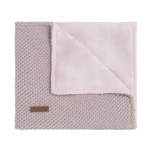 Wiegdeken soft Sparkle-Flavor zilver-roze mêlee