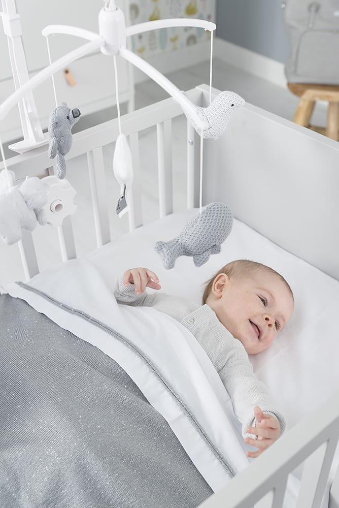 babys only 0453171 wieglaken zilverroze melee 5