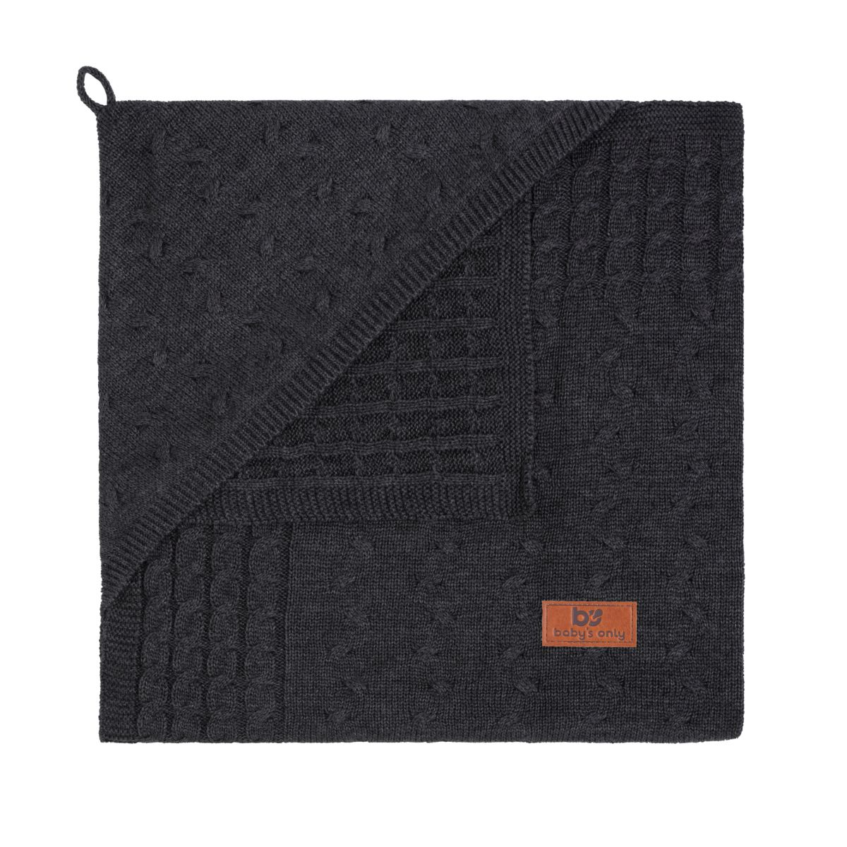 babys only 0132424 omslagdoek uni cable antraciet