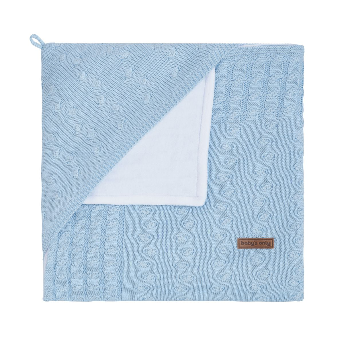 babys only 0142420 omslagdoek chenille cable baby blauw 1