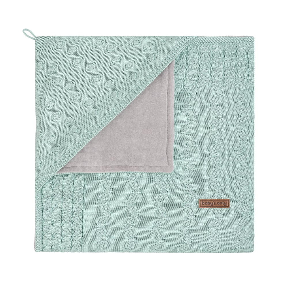 babys only 0142409 omslagdoek chenille cable mint 1
