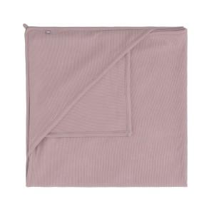Wikkeldeken Pure oud roze - 75x75