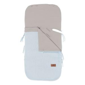 Zomer voetenzak autostoel 0+ Classic poederblauw