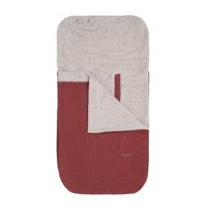 Zomervoetenzak 0+ autostoel Breeze stone red